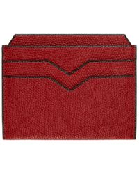 Valextra - Red 4cc Card Holder - Lyst