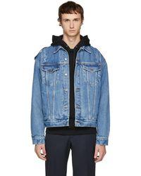 Moschino - Indigo Denim Jacket - Lyst