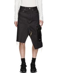 Rick Owens - Indigo Cargo Skirt - Lyst