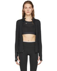adidas By Stella McCartney - Black Essentials Midlayer Zip-up Jacket - Lyst