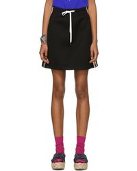 Miu Miu - Black Drawstring Miniskirt - Lyst
