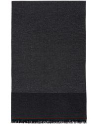 PS by Paul Smith - Grey Nepped Block Scarf - Lyst