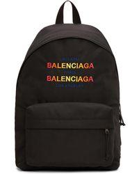 Balenciaga   Black Nylon Explorer Backpack   Lyst