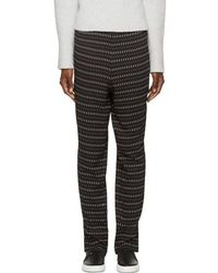 CoSTUME NATIONAL | Black Printed Trousers | Lyst