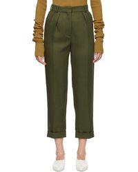 Victoria Beckham - Green High-waisted Trousers - Lyst