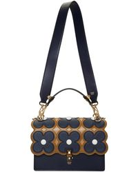 2ada28d619b Fendi Kan I Floral-print Leather Shoulder Bag - Lyst