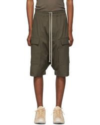 Rick Owens - Short cargo a cordon coulissant taupe Pods - Lyst