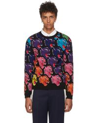 Gucci - Black Panther Face Jumper - Lyst