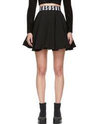 Versus - Black Flared Miniskirt - Lyst