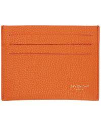 Givenchy - Orange Leather Card Holder - Lyst