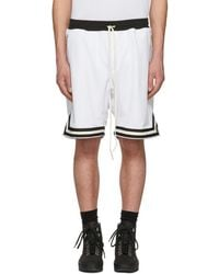 Fear Of God - Ssense Exclusive White Mesh Drop Shorts - Lyst