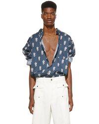 Jacquemus Navy La Chemise Simon Shirt