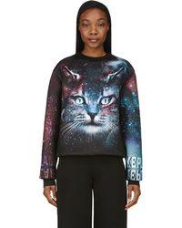 Juun.J - Ssense Exclusive Black & Purple Cosmic Cat Sweatshirt - Lyst