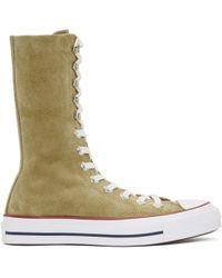 J.W. Anderson | Tan Converse Edition Suede Chuck Taylor High-top Trainers | Lyst