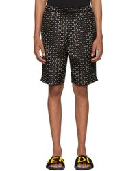 Fendi - Black Bag Bugs Shorts - Lyst