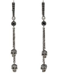 Alexander McQueen - Silver Chain Skull Earrings - Lyst