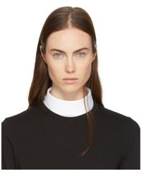 Hyke - White Band Collar - Lyst