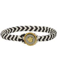 Lyst - Bracelet en cuir noir Medusa Versace pour homme en coloris Noir 057a6c43cdd