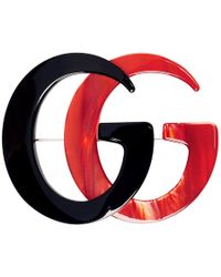Gucci - Black And Red GG Marmont Brooch - Lyst