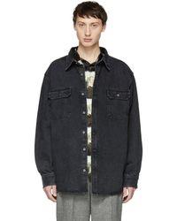 424 - Black Work Shirt - Lyst