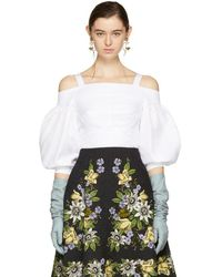 Erdem - White Varina Off-the-shoulder Blouse - Lyst