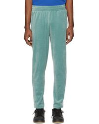 adidas Originals - Green Velour Cosy Lounge Trousers - Lyst