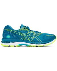 Asics - Blue And Green Gel-nimbus 20 Sneakers - Lyst