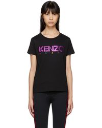 KENZO | Black Limited Edition Holiday Logo T-shirt | Lyst