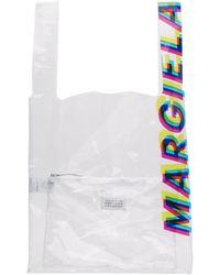 Maison Margiela - Transparent Pvc Logo Tote - Lyst