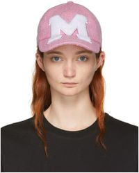 MSGM - Pink M Tweed Cap - Lyst