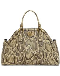 Gucci - Beige Snake Small Top Handle Bag - Lyst