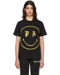 Palm Angels   Black Pa Smiling T-shirt   Lyst