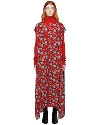 Vetements - Red Flowers Dress - Lyst