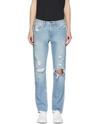 FRAME - Blue Lhomme Slim Raw Edge Jeans - Lyst