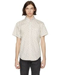 Naked & Famous - White Vintage Flowers Shirt - Lyst