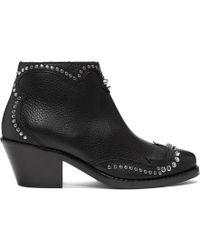 McQ - Black New Solstice Zip Boots - Lyst