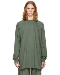 Rick Owens - Green Long Sleeve Baseball T-shirt - Lyst