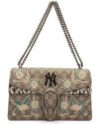 be789888aee5 Gucci - Brown Small Ny Yankees Edition Dionysus Bag - Lyst