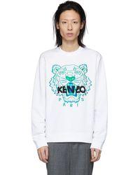 KENZO - White Tiger Sweatshirt - Lyst