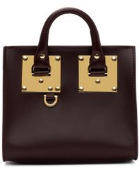Sophie Hulme - Burgundy Albion Box Tote - Lyst