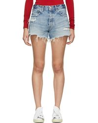 Moussy - Blue Chester Shorts - Lyst