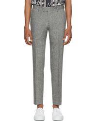 Tiger Of Sweden - Grey Wool Gordon Trousers - Lyst