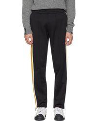 Moncler - Black Cotton Track Pants - Lyst