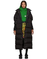 Prada - Black Long Buttons Down Jacket - Lyst