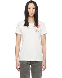 046fa64e Off-White c/o Virgil Abloh Floral Tape Print Stretch Cotton T-shirt ...