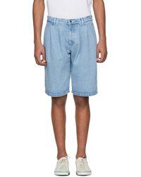 Gosha Rubchinskiy - Blue Large Denim Shorts - Lyst