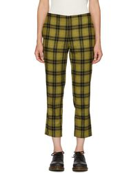 6397 - Yellow Plaid Pull-on Trousers - Lyst
