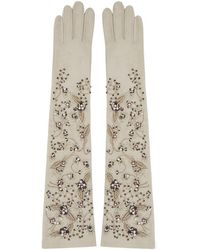 Erdem - Off-white Embroidered Cluster Gloves - Lyst