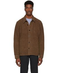 Nanamica - Brown Wool Pile Cpo Jacket - Lyst
