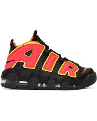 Nike - Black Air More Uptempo Trainers - Lyst